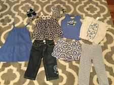 Lot Set Of 10 Gymboree Girls Sz 5 5t Greek Isle Style Dress Capri Shoes Hair