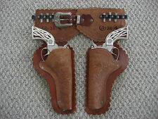 Colt .38 Double Holster Toy Cap Gun Set Hubley 1960 Era