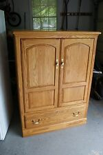 Wood TV Cabinet Entertainment Center - Pick Up Only