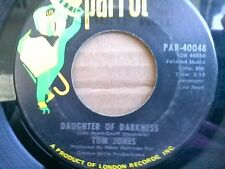 """TOM JONES 45 RPM """"Daughter of Darkness"""" """"Topelo Mississippi Flash"""" VG- condition"""