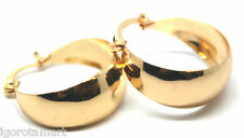 1 Pair Chunky Gold Plated Round Circle Earring Hoop Hoops Best Jewelry UK Post