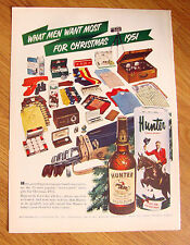 1951 Hunter Whiskey Ad  Most Wanted Gifts for Christmas