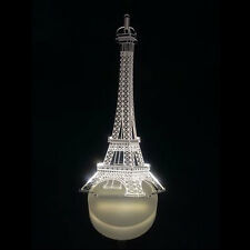 LED 3D Illuminated Eiffel Tower Illusion Light USB Lamp Night 7 Color Change