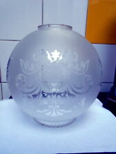 Victorian Style White Frosted Glass Globe Lamp Shade NEW