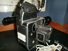 Bolex H16 M 16mm Camera & Som Berthiot 17-85mm f2 C Mt zoom lens w/dogleg finder