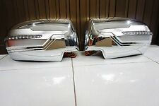 MITSUBISHI PAJERO SPORT TRITON 2015 CHROME WING MIRROR COVER WITH LED SET OF 2