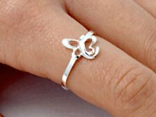 .925 Sterling Silver Ring size 6 Butterfly Knuckle Fashion Kids Ladies New p91