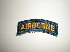 U.S. ARMY SPECIAL FORCES AIRBORNE TAB PATCH - TEAL BLUE (REPRODUCTION)