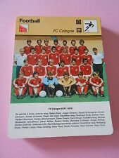 Football  FC Cologne  Fiche Card 1977