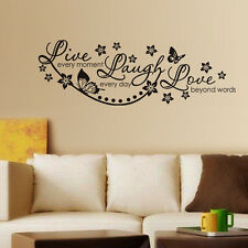 Wall Stickers Wall Decals Live Laugh and Love Wall Quote Family