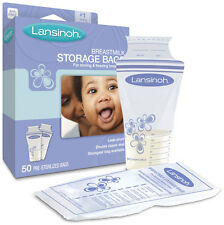 LANSINOH BREASTMILK STORAGE BAGS 50 COUNT FOR STORING & FREEZING BREASTMILK