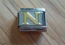 Italian Charms Charm - Gold Letters  Letter N
