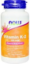 Now Foods Vitamin K2 K-2 100mcg x100Vcaps - Bone Health