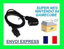 NINTENDO GAMECUBE GAME CUBE GC  RGB SCART CABLE LEAD #S5