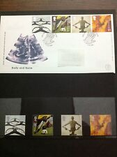 "Royal Mail First Day Cover + 4 x MNH stamps ""Body and Bone"" 3rd October 2000"