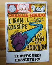 Rare Affiche CHARLIE HEBDO REISER N° 471 Chah D' Iran