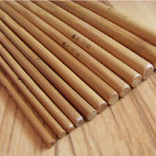 12pcs Stricknadeln aus Bambus verschiedene Häkelnadel Kopf Größe Pullover Machen