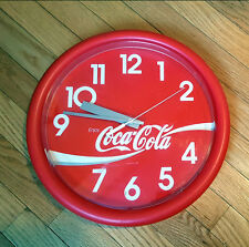 VINTAGE COKE CLOCK Coca Cola - Made in USA - NICE! - Work great! Fast Shipping!