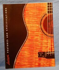 LARRIVEE FEATURES AND SPECIFICATIONS ACOUSTIC GUITAR CATALOG COLOR PAGES