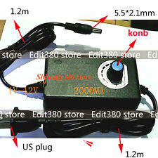 24W AC-DC Power Adapter 110V 120V to DC 1-12V For Motor Speed Control Dimmer