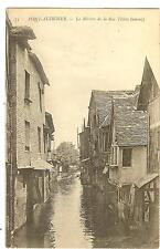 CARTE POSTALE PONT AUDEMER RIVIERE DE LA RUE THIER 1915