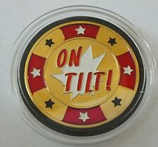 ON TILT poker coin Card Guard Protector Cover