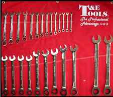 SPANNER SET 25 Pc Metric gear ratchet Gear Combination Wrench T&E tools 13025a