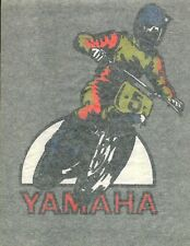 YAMAHA DIRT BIKER vintage 70s iron on t shirt transfer NOS full size