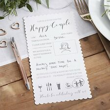 10 Wedding Advice Cards for the Happy Couple Words of Wisdom Wishes Guest Book