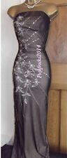 Beautiful ❤️ Size 8 10 Jane Norman Black Nude Ball Gown Party Maxi Long Dress ~