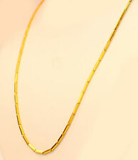 "22K 22kt  PURE YELLOW GOLD baht chain / necklace from Thailand 16""  #b10"