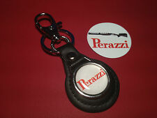 PERAZZI SPORTING GUNS:  LEATHER KEY RING &  FREE PERAZZI GUNS   STICKER