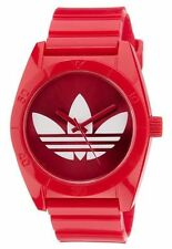 Adidas ADH2655 Santiago Red Dial Red Rubber Analog Sport Watch