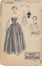 Vintage Vogue Evening Gown with Cape Sewing Pattern 4048 Size 36""