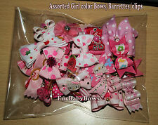 50 Pink Cute Yorkie Dog Grooming bow ShihTzu Poodle Maltese Puppy hair clips