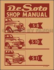 DeSoto Factory Repair Shop Manual 1941 1942 1946 1947 1948 De Soto S8 S10 S11