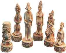 9 x SUPERCAST 0014  AFRICAN CHESS SET REUSABLE LATEX MOULDS / MOLDS