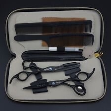 "6"" Pro. Hair dressing Scissors Salon Barbers Cutting+Thinning Shears+Kits k298"