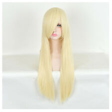 Lolita STYLE Long Straight Platinum Blonde Hair Wig Barbie Doll Cosplay Wigs
