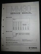 Yamaha Mixer MM30 Service Shop Manual Schematics Parts List 1982