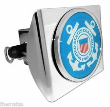 US COAST GUARD BLUE SEAL CHROME DECAL USA MADE PLASTIC TRAILER HITCH COVER