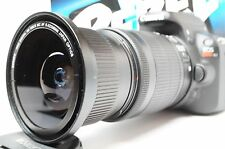 Ultra Wide Angle Macro Fisheye Lens for Canon Eos Digital Rebel  & 18-135mm IS U