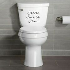 THE BEST SEAT IN THE HOUSE Toilet seat sticker decal | funny, bathroom, wall art