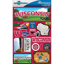 Scrapbooking Crafts Stickers 3D Wisconsin License Plate Badger Packers Cheese