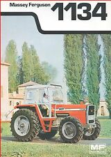 French Original  Prospect  Tracteur Tractor Massey Ferguson MF 1134 _  2 Pages
