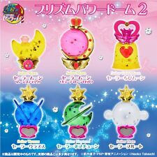 SAILOR MOON PRISM POWER DOME GASHAPON SET COMPLETO 6 PZ. - BANDAI