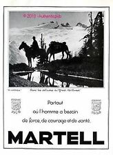 PUBLICITE MARTELL COGNAC AMERIQUE GREAT NORTHWEST CHEVAL DE 1936 FRENCH AD PUB