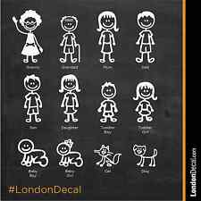 STICK FAMILY - Car Window Bumper Vinyl Decal Sticker, any colour