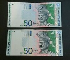 Rm 50 AAH ali abu Hassan  center signature  2pcs vf