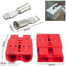 Battery Quick Connector Kit 50A 8AWG Plug Connect Disconnect Winch Trailer 4Pcs
